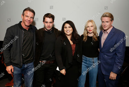 "Dennis Quaid, Christian Cooke, Yvonne Villarreal, Kate Bosworth and Cary Elwes speak at Crackle's ""The Art of More"" SAG Screening at The Landmark, in Los Angeles"
