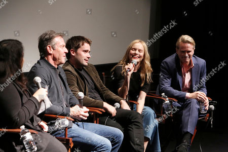 "Moderator Yvonne Villarreal, Dennis Quaid, Christian Cooke, Kate Bosworth and Cary Elwes speak at Crackle's ""The Art of More"" SAG Screening at The Landmark, in Los Angeles"