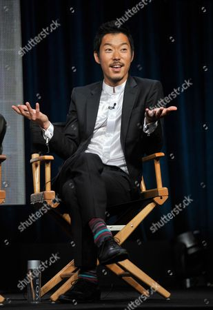 "Actor Aaron Yoo participates in ""The Tomorrow People"" panel at the CW Summer TCA, at the Beverly Hilton hotel in Beverly Hills, Calif"