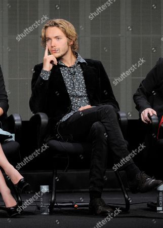"Toby Regbo participates in the ""Reign"" panel at the CW Summer TCA, at the Beverly Hilton hotel in Beverly Hills, Calif"
