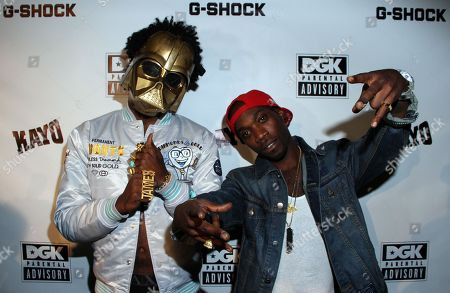 Recording artist Trinidad James and pro skater Stevie Williams attend Parental Advisory Premiere and Concert on Tuesday, December, 11th, 2012, at Avalon in Hollywood, California