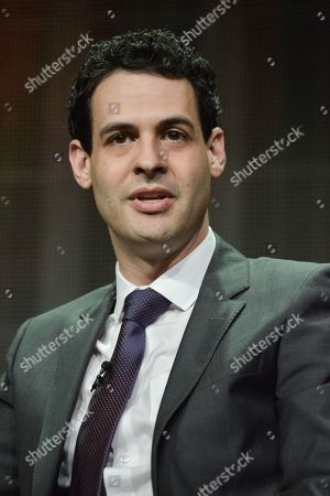 """Andrew Leeds onstage during the """"Cristela"""" panel at the Disney/ABC Television Group 2014 Summer TCA at the Beverly Hilton Hotel, in Beverly Hills, Calif"""