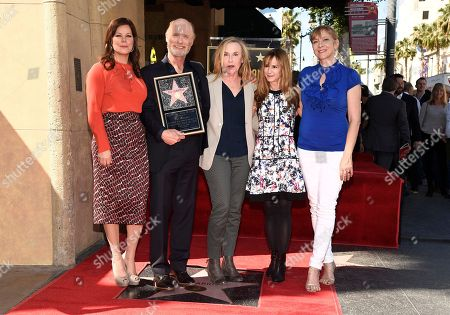 Marcia Gay Harden, from left, Ed Harris, Amy Madigan, Holly Hunter and Glenne Headly as Ed Harris is honored with a star on the Hollywood Walk Of Fame, in Los Angeles