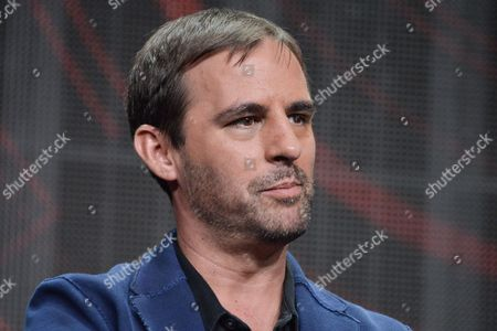 "Roberto Orci speaks onstage during the ""Matodor"" segment of the El Rey Network 2014 Summer TCA, in Beverly Hills, Calif"