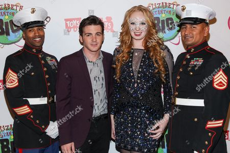 Actor/singer Drake Bell and TV personality Elizabeth Stanton arrive at Elizabeth Stanton's 18th birthday benefiting Toys for Tots at Belasco Theatre on in Los Angeles