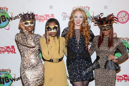 From left, Singers Lauryn McClain, China Anne McClain, TV personality Elizabeth Stanton and singer Sierra McClain arrive at Elizabeth Stanton's 18th birthday benefiting Toys for Tots at Belasco Theatre on in Los Angeles
