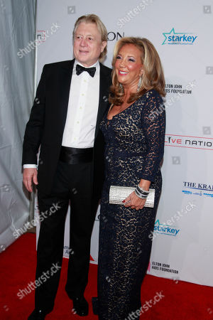 """Stock Image of Niels Lauersen and Denise Rich arrive at the Elton John AIDS Foundation's 12th Annual """"An Enduring Vision"""" benefit gala at Cipriani Wall Street on in New York"""