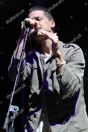 Paul Meany with Mutemath performs as the opener for Twenty One Pilots during the Emotional Roadshow World Tour at the Infinite Energy Center, in Atlanta