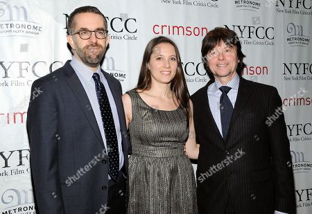 "Stock Photo of The Central Park Five"" co-directors David McMahon, Sarah Burns and Ken Burns arrive at the New York Film Critics Circle awards dinner at the Crimson Club on in New York"