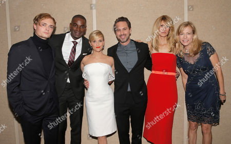 Stock Picture of Keene McRae, Mo McRae, Reese Witherspoon, Thomas Sadoski, Laura Dern and Cathryn de Prume attend the Los Angeles Premiere of Fox Searchlight's 'Wild' at AMPAS Samuel Goldwyn Theater on in Los Angeles