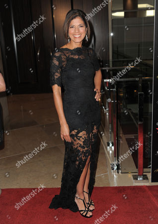 Stock Image of Journalist Zoraida Sambolin arrives at the Gracie Awards Gala on in Los Angeles, Calif