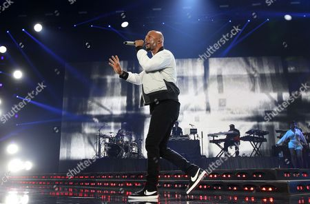 Common performs at 2015 Essence Music Festival Concert at Superdome in New Orleans. The activist and rapper is going to New Jersey's biggest city to take part in a rally against crime and violence. NJ.com reports Newark Mayor Ras Baraka and Common will be among those attending an Occupy the City event on Saturday, Aug. 8