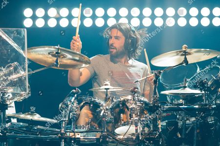 Rob Bourdon of Linkin Park performs on stage during the iHeartRadio Live Series at the iHeartRadion Theater, in Burbank, Calif