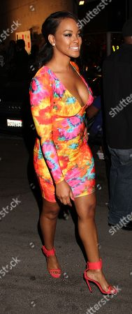 """Basketball Wives LA cast member Malaysia Pargo attends Jackie Christie's """"Sexual Relations: A His & Hers Guide to Greater Intimacy"""" Book Launch as part of Basketball Wives LA season 3 at Sushi Kingz on in Hollywood, California"""