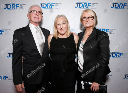 Tony Garofalo, Ellyn Garofalo and Marcy Carsey attends the JDRF LA's 10th Annual Finding A Cure: The Love Story Gala at the Hyatt Regency Century Plaza on in Century City, California