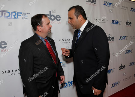 Bret Prichard and Sam Nazarian attend JDRF LA's 11th Annual Imagine Gala Red Carpet, on Saturday, May, 3, 2014 in Century City, Calif