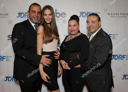 Sam Nazarian, Emina Cunmulaj, Angela Melamed and Baze Melamed attend JDRF LA's 11th Annual Imagine Gala Red Carpet, on Saturday, May, 3, 2014 in Century City, Calif
