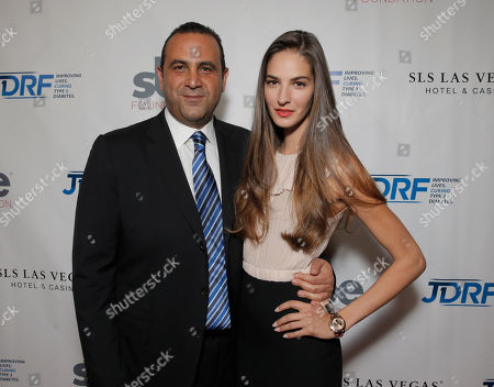 Sam Nazarian and Emina Cunmulaj attend JDRF LA's 11th Annual Imagine Gala Red Carpet, on Saturday, May, 3, 2014 in Century City, Calif