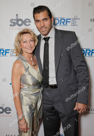 Stock Image of Beau Bonness (right) and mother attend JDRF LAâ?™s 11th Annual â?œImagine Galaâ?? Red Carpet, on Saturday, May, 3, 2014 in Century City, Calif
