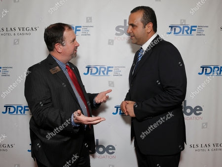 Bret Prichard and Sam Nazarian attend JDRF LAâ?™s 11th Annual â?oeImagine Galaâ?? Red Carpet, on Saturday, May, 3, 2014 in Century City, Calif