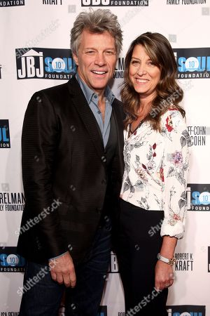 Jon Bon Jovi, left, and Dorothea Hurley, right, attend the Jon Bon Jovi Soul Foundation (JBJSF) benefit gala, celebrating ten years of combatting hunger and homelessness, at The Garage, in New York