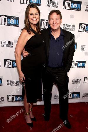 Savannah Guthrie, left, and Michael Feldman, right, attend the Jon Bon Jovi Soul Foundation (JBJSF) benefit gala, celebrating ten years of combatting hunger and homelessness, at The Garage, in New York
