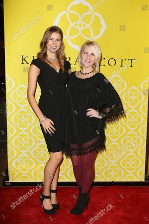 From left, Katie Katnik and Christina Vecchi pose during the Luxe Party at the Kendra Scott Fashion Island Boutique, in Newport Beach, Calif