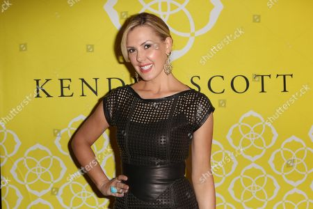 Kendra Scott poses during the Luxe Party at the Kendra Scott Fashion Island Boutique, in Newport Beach, Calif