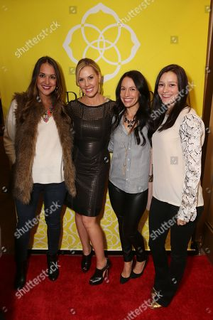 From left, Kathleen Barnes, Kendra Scott, Shannon Pulsifer and Allison Roberts pose during the Luxe Party at the Kendra Scott Fashion Island Boutique, in Newport Beach, Calif