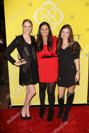 From left, Jill Kerr, Jennifer Hodge and Sophie Houseman pose during the Luxe Party at the Kendra Scott Fashion Island Boutique, in Newport Beach, Calif