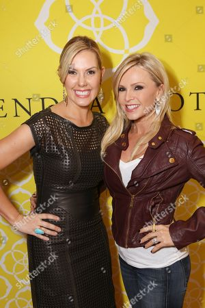 From left, Kendra Scott and Tamra Barney, from Real Housewives of Orange County, poses during the Luxe Party at the Kendra Scott Fashion Island Boutique, in Newport Beach, Calif