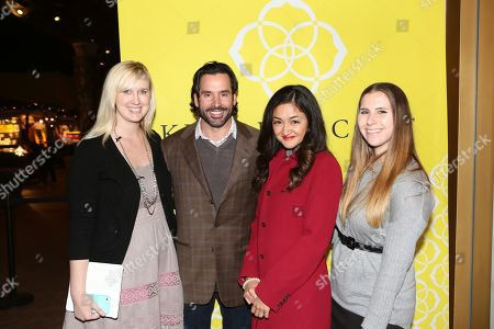 From left, Jordan Rodriguez, Chris Gialanella, Weeda Lutfi and Lauren Weiss pose during the Luxe Party at the Kendra Scott Fashion Island Boutique, in Newport Beach, Calif