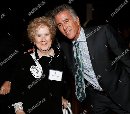 Peggy Albecht and Christopher Kennedy Lawford are seen at the LA Friendly House Luncheon on in Beverly Hills, Calif
