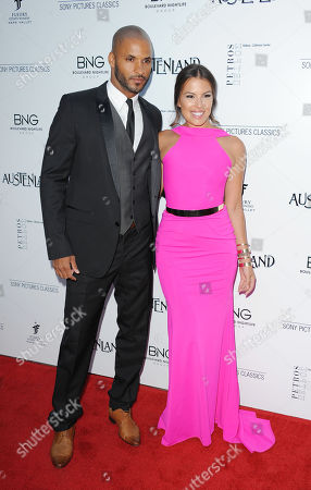 """Ricky Whittle, at left, and Sandra Hinojosa arrive at the premiere of """"Austenland"""" at the ArcLight Hollywood on in Los Angeles"""