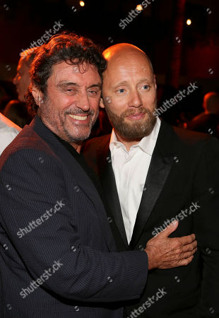"""From left, actors Ian McShane and Aksel Hennie attend the after party for the premiere of """"Hercules"""" held at the TCL Chinese Theatre, in Los Angeles, Calif"""