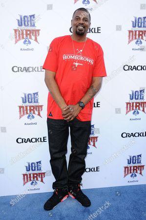 "Gerald Johnson arrives at the LA Premiere of ""Joe Dirt 2: Beautiful Loser"" on in Culver City, Calif"