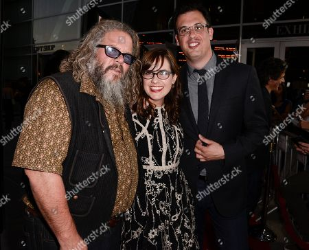 """From left to right, actor Mark Boone Junior, actress Jennifer Prediger, center, and director Daniel Schechter attend the premiere of the feature film """"Life of Crime"""" at the ArcLight Hollywood on in Los Angeles"""