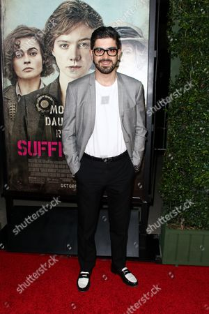 "Beejan Land attends the LA Premiere of ""Suffragette"" held at Samuel Goldwyn Theater at AMPAS, in Beverly Hills, Calif"