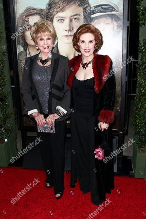 """Karen Sharpe, left, and Kat Kramer attend the LA Premiere of """"Suffragette"""" held at Samuel Goldwyn Theater at AMPAS, in Beverly Hills, Calif"""
