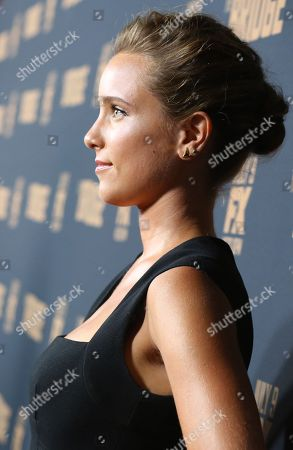 """Jenny Pellicer arrives at the Los Angeles premiere screening of """"The Bridge"""" at the Pacific Design Center, in West Hollywood, Calif"""