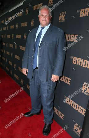 Stock Photo of Abraham Benrubi arrives at the premiere screening of 'The Bridge' at the Pacific Design Center, in West Hollywood, Calif