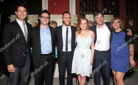 RADiUS-TWC Co-President Jason Janego, Justin Lader, director Charlie McDowell, actors Elisabeth Moss and Mark Duplass, and producer Mel Eslyn attend the premiere of RADIUS-TWC's 'The One I Love' at the Vista Theatre on in Los Angeles