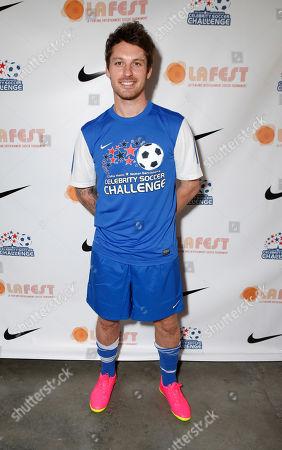 Tristan MacManus attends the LAFEST LA Film and Entertainment Soccer Tournament, on in Carson, California