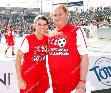 Mia Hamm and Mike Medavoy attend the LAFEST LA Film and Entertainment Soccer Tournament, on in Carson, California