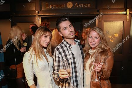 Stock Image of Rachel Heller, Tom Ierna and Danielle Siegel seen at the Leyton Astor Grand Opening Party at 199 Mott Street, in New York