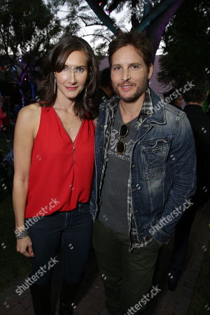 """Lollipop Theater Networks' Evelyn Iocolano and Peter Facinelli seen at Lollipop Theater Network's """"A Night Under the Stars"""" at Nickelodeon Animation Studios, in Burbank, CA"""