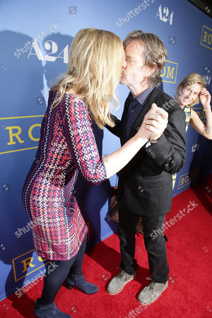 Joan Allen and William H. Macy seen at the Los Angeles Premiere of A24's 'Room' at the Pacific Design Center on in West Hollywood, Calif