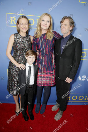 Brie Larson, Jacob Tremblay, Joan Allen and William H. Macy seen at the Los Angeles Premiere of A24's 'Room' at the Pacific Design Center on in West Hollywood, Calif