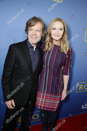 William H. Macy and Joan Allen seen at the Los Angeles Premiere of A24's 'Room' at the Pacific Design Center on in West Hollywood, Calif