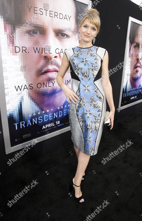 Stock Picture of Producer Annie Marter seen at the Los Angeles Premiere of Alcon Entertainment's 'Transcendence', on in Westwood, Calif